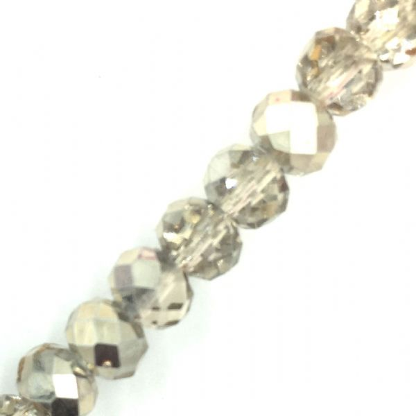Crystal rondelle carnival beads - light champagne